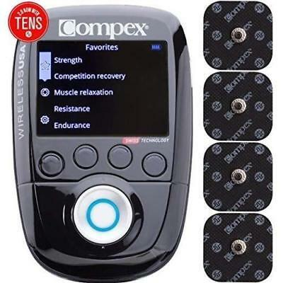 NEW! COMPEX Wireless USA 2.0 Muscle Stimulator Kit with TENS