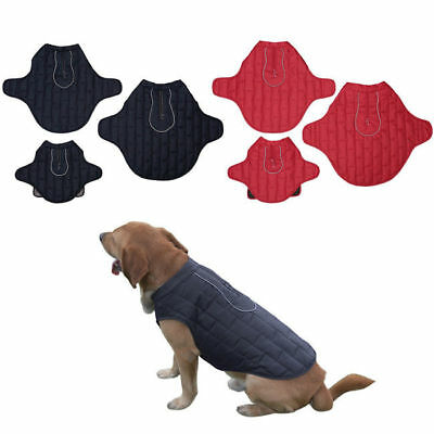Pet Padded Dog Coat Winter Insulated Jacket Puppy Warm Quilted Clothes Vest