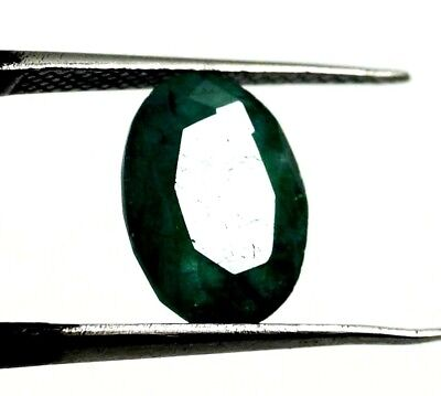New Year Offer GGL Certified 3.00 Ct Natural Oval Cut Green Emerald Gemstone