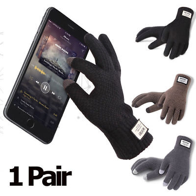 New Mens Women Thermal Insulation Touch Screen Winter Warm Gloves For Smartphone
