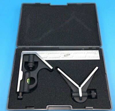 """iGaging 3 piece 6"""" Precision Combination Square and Center Finder Head 4R Blade"""