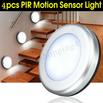 4X 6LED Wireless PIR Auto Motion Sensor Infrared Night Light Cabinet Stair