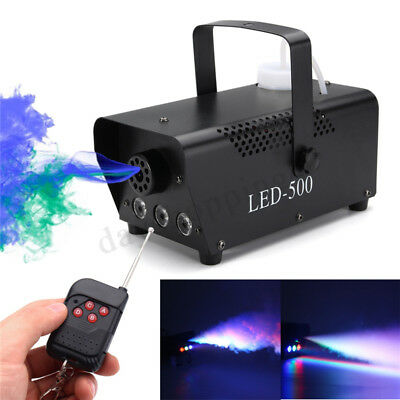 500W  RGB LED Wireless Fog Machine DJ Disco Club Stage Fogger Remot EU Plug