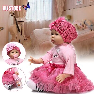 AU!!! Toddler Girl Doll Handmade Lifelike Silicone Reborn Baby Dolls 22-Inch New