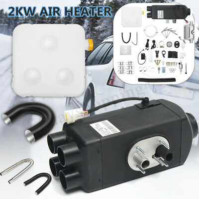 2KW 1224V Diesel Air Heater LCD Thermostat For Motorhome Car Truck Boat