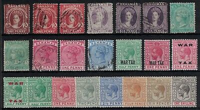 Bahamas, Early Qv & Gv, Mint & Used Selection (22).