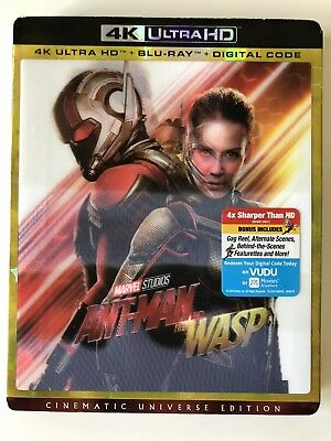 Ant-Man and the Wasp (4K UHD/Blu-ray) w/ Case & Lenticular Slipcover *LIKE NEW*