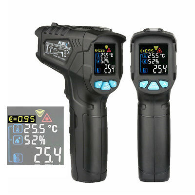 MESTEK IR01A/B/C Non-Contact Infrared LCD Digital Thermometer Gun Humidity Meter