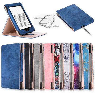 For Amazon 2018 All-New Kindle Paperwhite Flip PU Leather Smart Case Cover Stand