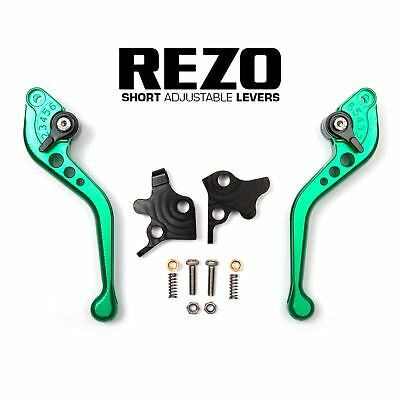 REZO Green Short Brake and Clutch Lever Set for Ducati Streetfighter 848 12-14