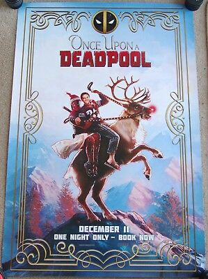 Original Once Upon a Deadpool movie one sheet poster Marvel
