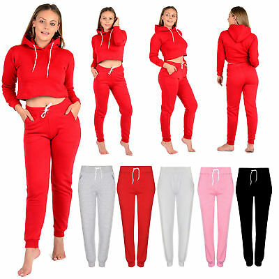Ladies Trousers Women's Cropped Girls Plain Joggers Bottom Yoga Exercise Gym