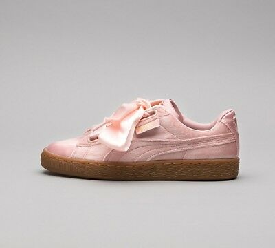 SF32 Womens Puma Suede CL Pink//White Velour Trainers RRP £74.99