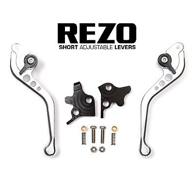 REZO Silver Adjustable Short Brake and Clutch Lever Set for Ducati ST3 03-07
