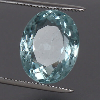 19.50 Ct. Natural Aquamarine Greenish Blue Color Oval Cut Certified Loose Gems