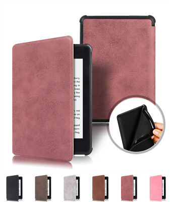 For New Kindle Paperwhite 4 2018 Smart Thin Leather Sleep Awake Flip Cover Case