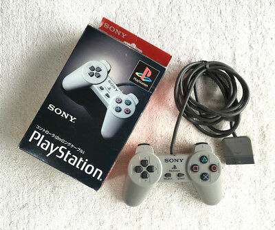 PS1 Controller SCPH-1080 Sony Playstation Official Grey OEM BOXED JAPAN TRACKING