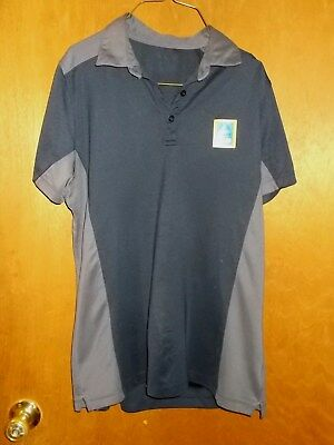 3--Aldi Grocery Store Employee Womens Polo Size Navy Blue Gray Size Large to XLa