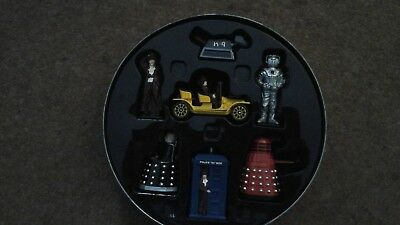 Doctor Who set of figures in tin .Corgi Dr Who 40th anniversary gift set, TY9620