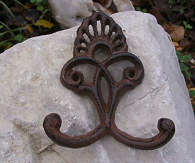Hook Hanger Cast Iron Crown Wall Coat Hat Towel Clothes Jewelry Kitchen  #104