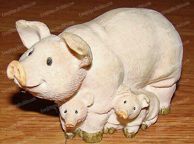 Family of Pig's, Pink Sow & Piglets (by Young)