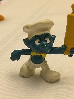 VINTAGE SMURF HEAD COOK shipping is for up to 10 smurfs