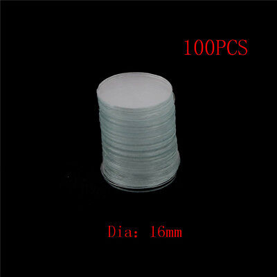100Pcs 16mm Blank Round Microscope Cover Glass Cover Slips for Lab Medical HC