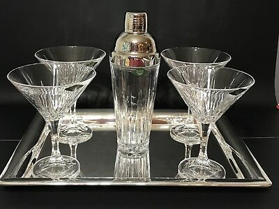 SHANNON CRYSTAL GODINGER SILVER 25136 - Ingrid 6 Piece Martini Set - NEW IN BOX!