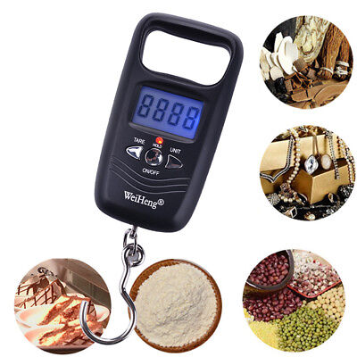 Portable 50kg 110lbs Digital Hanging Luggage Weight Electronic Fish Hook Scale