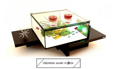 Table basse aquarium EQUILIBRE 20 LED sans Fil Alain Floch - Facile à Utiliser