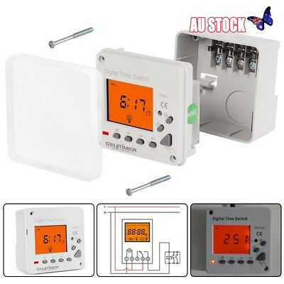 24H 7 Day Electronic Programmable Plug In Timer Digital Time Switch Relay Week