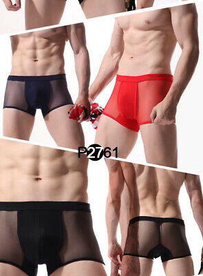 Boxer taille L/XL noir transparent total sheer très sexy Ref G06 gay int NEOFAN