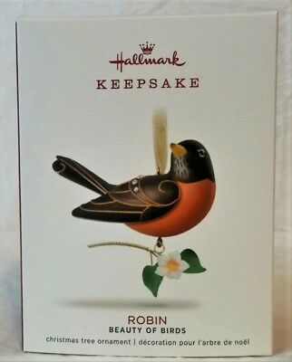 Hallmark 2018 Beauty of Birds Robin Ornament, 14th in Series