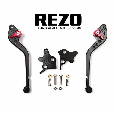 REZO Black Long Brake and Clutch Lever Set for Moto Guzzi Norge 1200 ABS 08-09