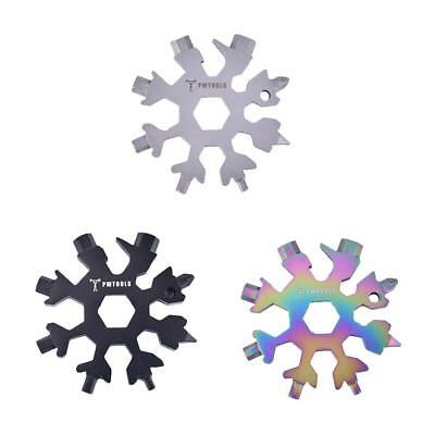Multi-tool 18-in-1 Card Combination Compact Portable Outdoor Hike Snowflake Tool