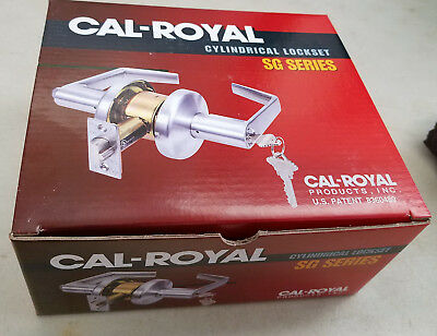 CAL-ROYAL SG-03 Cylindrical Lever Lock Grade 2 CLASSROOM US26D BRUSHED CHROME