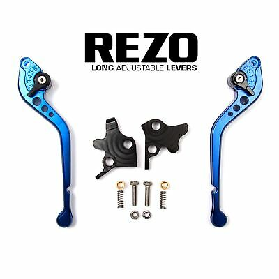 REZO Blue Long Brake and Clutch Lever Set for Ducati Streetfighter 848 12-14