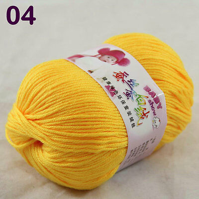 Sale 1ballx50g DK Baby Cashmere Silk Wool Children hand knitting Crochet Yarn 04