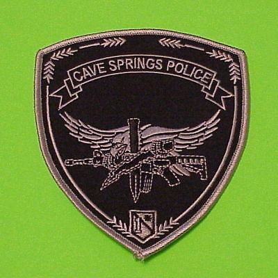 Cave Springs  Arkansas  Subdued / Swat  Police Dept. Patch  Free Shipping!!!