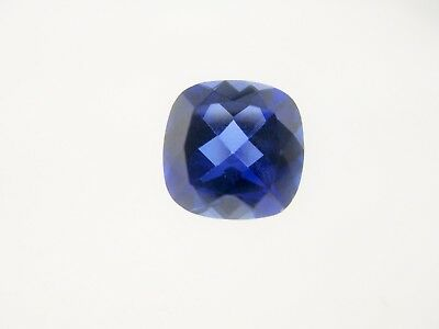 4.98ct Loose Faceted Cushion Cut Lab Created Sapphire Gemstone 10 x 10mm