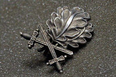 Oak Leaves With Swords For The Knights Cross Of The Iron Cross - Massive Silver!