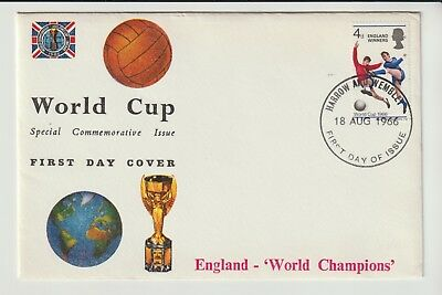 Gb Stamps First Day Cover 1966 Wembley World Cup Winners Rares Collection
