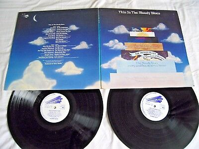 THE MOODY BLUES - This Is The Moody Blues - 1974 UK G/F Vinyl 2-LP NICE COPY! EX