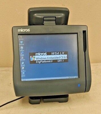 Micros Workstation 4 LX WS4 POS Touchscreen Terminal 400714-001 + Stand +Display
