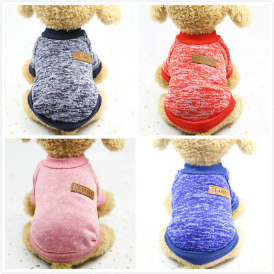 Yorkie Puppy Clothes Outfit Pet Cat Jacket Coat Soft Shirt For Small Breed Dogs