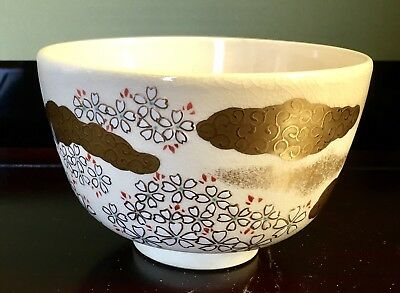 Tea bowl Chawan, Antique Japanese Porcelaine Circa 1930's Signed In Artists Box