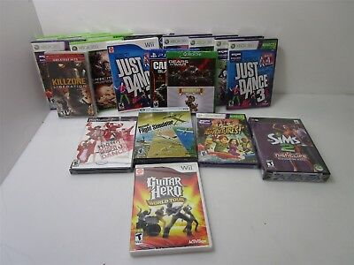 Brand New Sealed In Packaged Lot Of PS4//Wii/ Xbox 360/kinect/ & PC Video Games