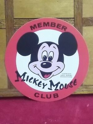 MICKEY MOUSE CLUB vintage 1950s Disneyland sticker factory fresh radiant
