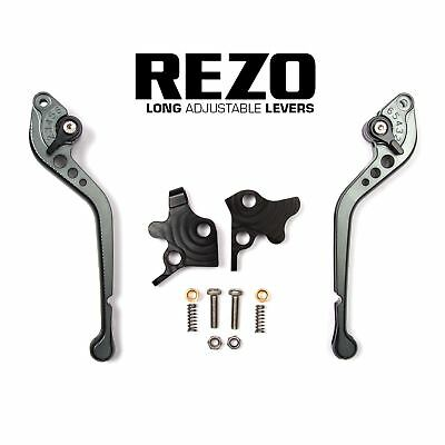 REZO Titanium Adjustable Long Brake and Clutch Lever Set for Ducati 750 SS 99-02