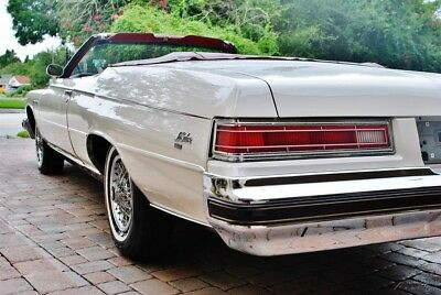 1975 Buick Lasabre Custom Convertible Absolutely Gorgeous 75 Buick Lesabre Convertible Air Conditioning Triple White w/ Red Dash & Carpets